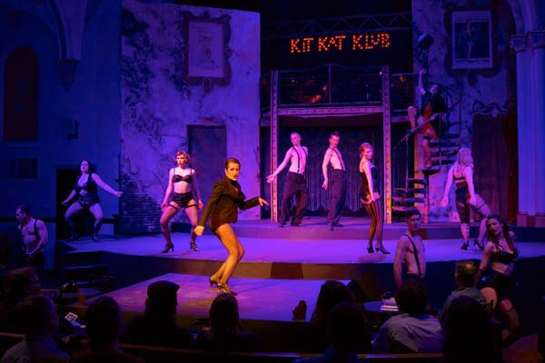 Dress rehearsal on April 2, 2014 of Stray Dog Theatre's production of Cabaret.